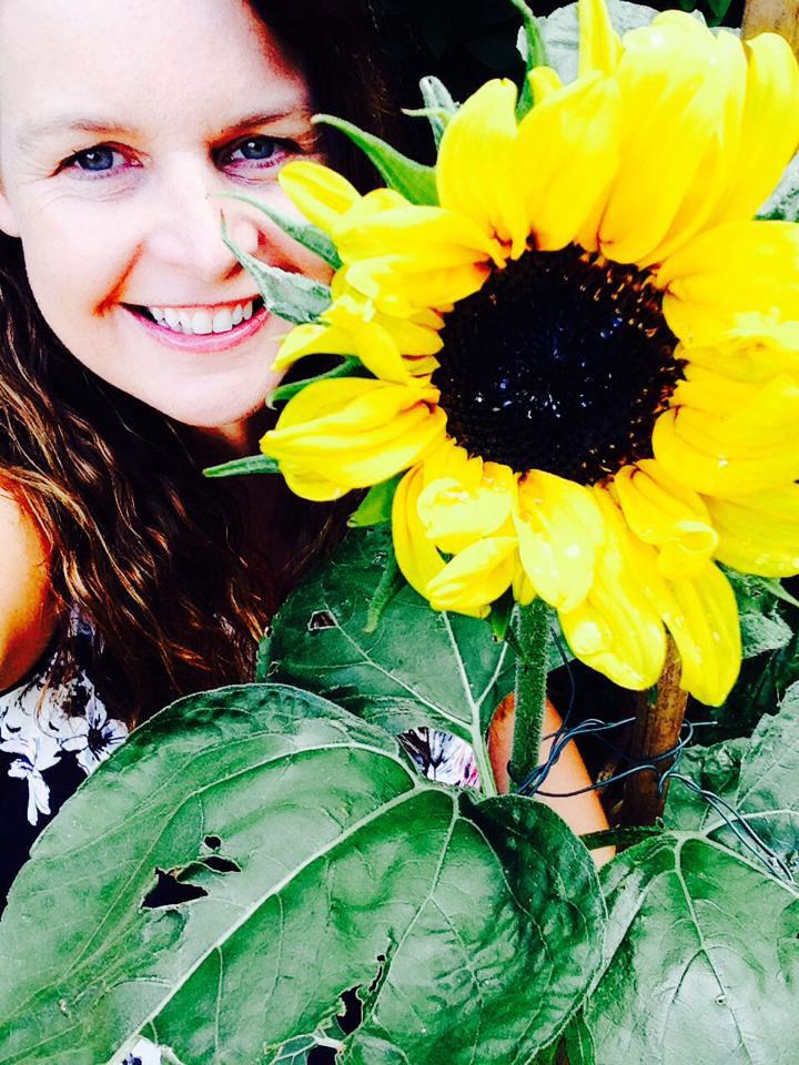 Helen and sunflower