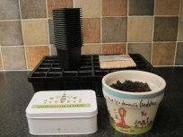 Pots and plant labels