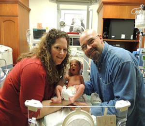 Conrad in the hospital.