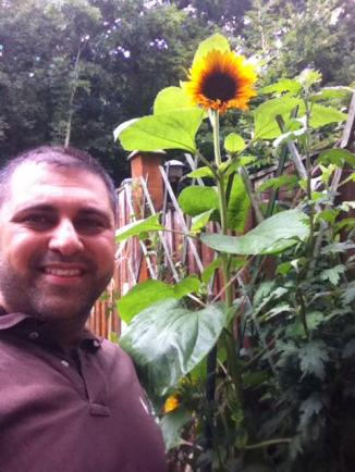 Nish and sunflower