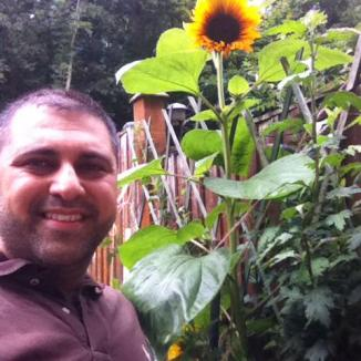 Nish and sunflower