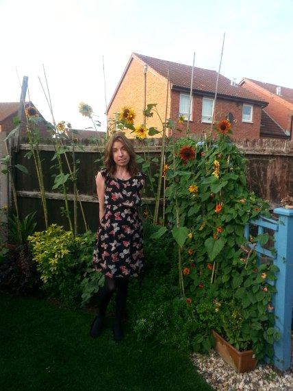 Toni with sunflowers