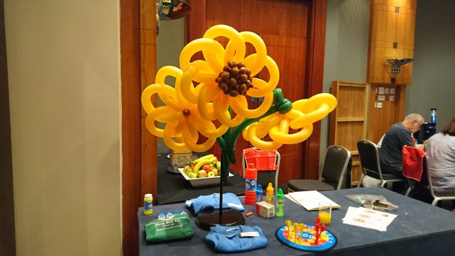 Balloon sunflowers